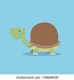 Cute turtle pet vector illustration