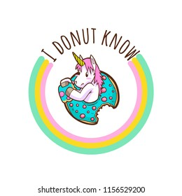 cute unicorn and donuts quotes