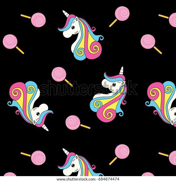 Vector De Stock Libre De Regalías Sobre Cute Unicorn