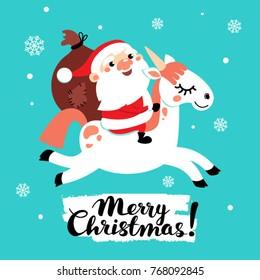 cute unicorn santa claus gifts 260nw 768092845