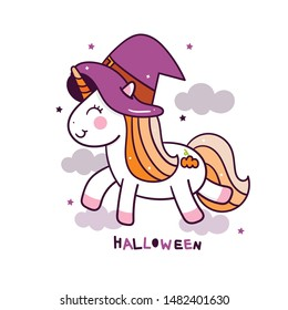 Cute Unicorn vector Pony cartoon pastel color, fantastic fairly tales character, Kawaii animal doodle style. Hand drawing, instructional media, Perfect for kid's greeting card, fashion artworks, child
