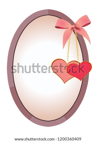 Cute Valentines Border Template Photo Stock Vector Royalty Free