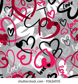 Cute valentine's seamless pattern with hearts