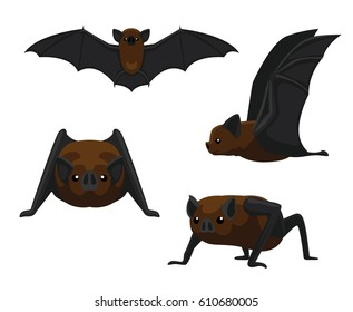 Cute Vampire Bat Cartoon Vector Illustration