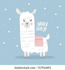 Cute vector alpaca print