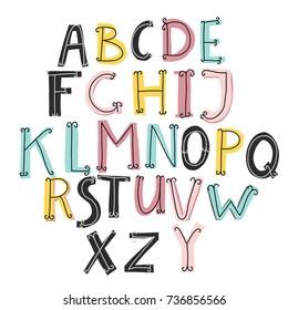 Cute vector alphabet