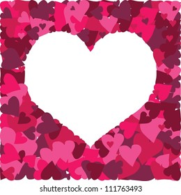 Cute vector background with a million of hearts for greeting cards, Valentine's Day cards and wedding invitations