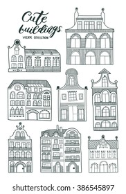 Cute vector buildings