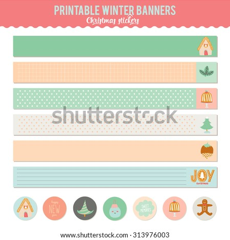 Cute vector cards notes stickers labels stock vector royalty free cute vector cards notes stickers labels tags with winter christmas illustrations and m4hsunfo