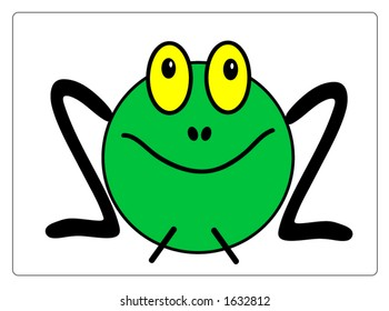 Cute vector frog, all scalable