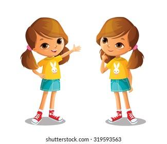 cute vector girl