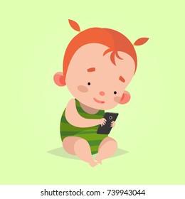Phone Baby Cartoon Hd Stock Images Shutterstock