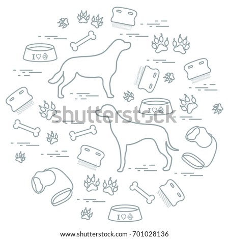 Cute Vector Illustration Goods Care Dogs Stock Vector Royalty Free