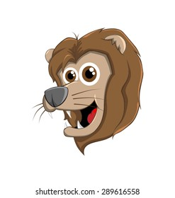 Cute vector lion head mascot