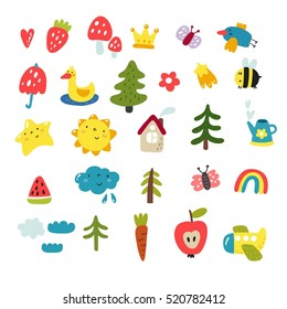 Cute vector set for kids