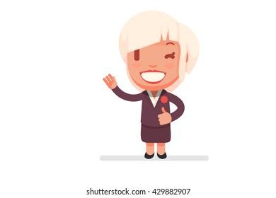 Cute vector woman