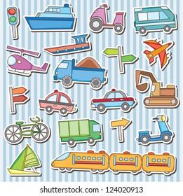Cute vehicles clip art