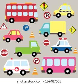 Cute Vehicles, transport set