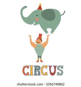 Cute vintage circus card