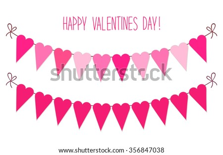 Cute Vintage Valentines Day Heart Shaped Stock Vector Royalty Free