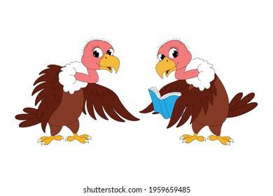 cute vulture bird animal cartoon