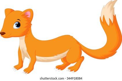 Cute weasel cartoon
