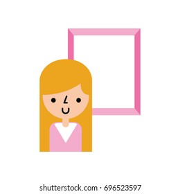 cute woman avatar with picture