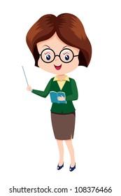 Cute woman Teacher