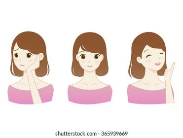 Cute woman's Illustration