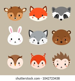 photograph about Free Printable Woodland Animal Templates named Woodland Pets Shots, Inventory Pics Vectors Shutterstock