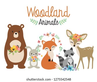 image relating to Free Printable Woodland Animal Templates called Woodland Pets Photographs, Inventory Shots Vectors Shutterstock