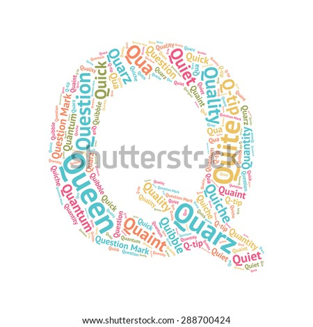 cute word cloud abc letters series stock vector (royalty free