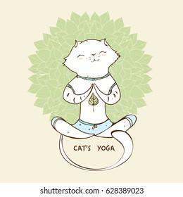 cat pose yoga images stock photos  vectors  shutterstock