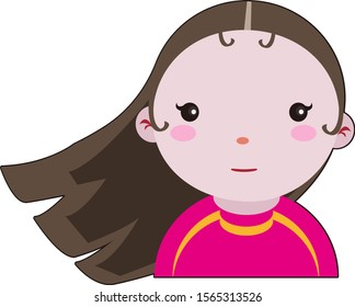 Cartoon Brown Hair Brown Eyes Female Images Stock Photos