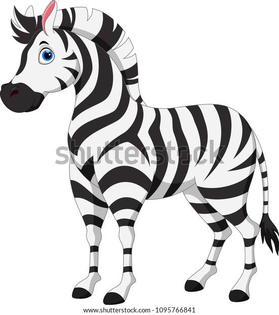 Cute zebra cartoon print for children's wallpaper murals
