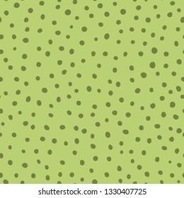 Cutegreen seamless pattern Hand drawn wallpaper polka dot childish ornament Abstract geometric seamless background green weallpaper organic design Vector illustration Fabric cloth design.