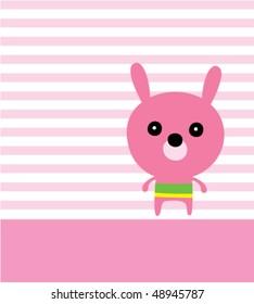 cutie bunny greeting