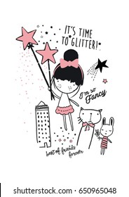cutie girl illustration with magic 2