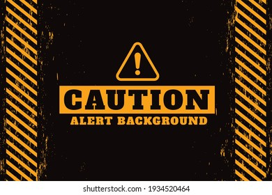cution alert warning background design