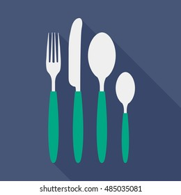 Cutlery flat icon. You can be used cutlery icon for several purposes like: websites, UI, UX, print templates, presentation templates, promotional materials, info-graphics, web and mobile phone apps.