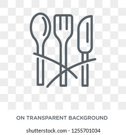 Cutlery icon. Cutlery design concept from Restaurant collection. Simple element vector illustration on transparent background.