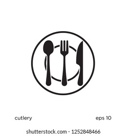 cutlery icon food symbol