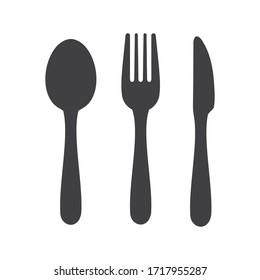 Cutlery icon. Spoon, forks, knife.  restaurant symbol  vector illustration