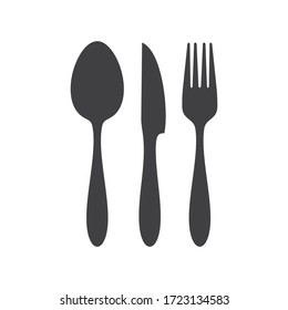 Cutlery icon. Spoon, forks, knife.  restaurant symbol  vector illustration