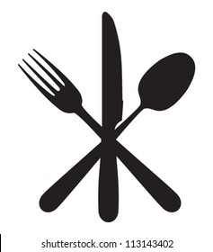 Cutlery - knife, fork and spoon