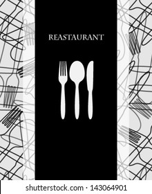 cutlery menu with texture