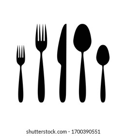 Cutlery sign or symbol. Vector design isolated on white background. Cutlery icon.