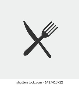 Cutlery vector icon icon illustration sign