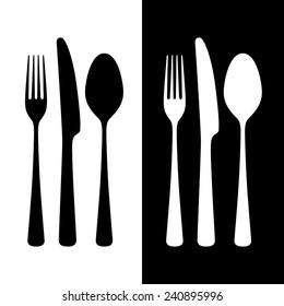 Cutlery, vector illustration
