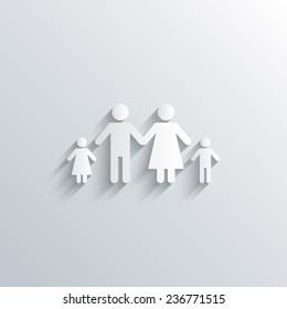 Family Paper Cutout Images, Stock Photos & Vectors